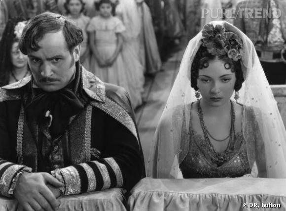 """Dans le classique """"Dancing pirate"""" de 1949, l'actrice Steffi Duna incarne une mariée au style trés art déco."""