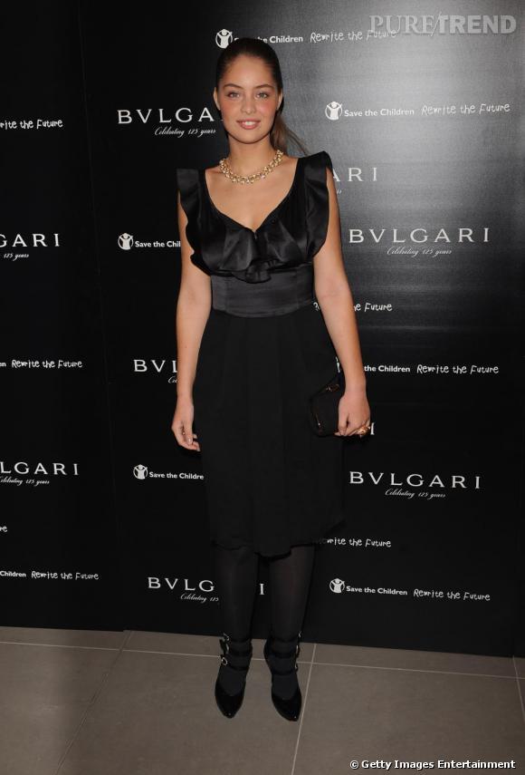 Marie-Ange Casta à la soirée Vogue et Bulgari