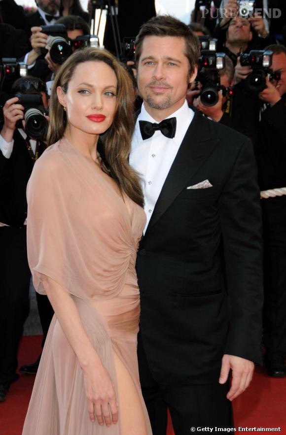 Angelina Jolie  , qui ne portait que du noir il y a quelques années de cela, cède aux sirènes du nude