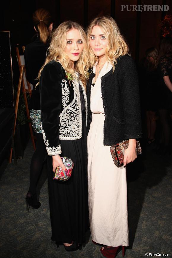 Mary Kate et Ashley Olsen à la soirée d'accueil des nouveaux membres du Council of Fashion Designers