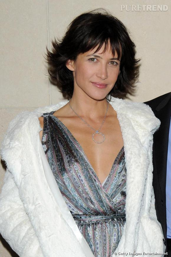 Sophie Marceau lors de la première à Paris de L'Homme de Chevet