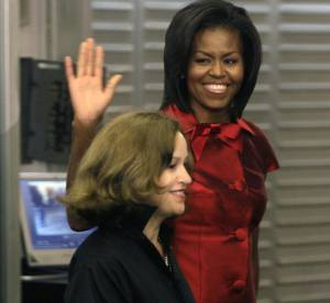Michelle Obama  se chausse made in France