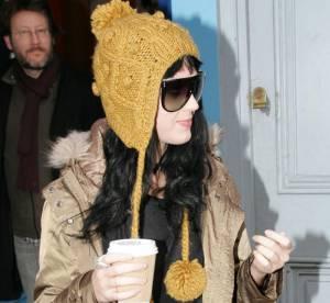 Katy Perry, un look fun pour affronter la neige
