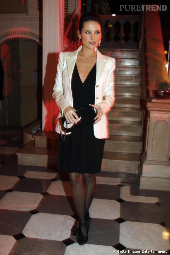 Virginie Ledoyen au Dîner de la Mode à Paris