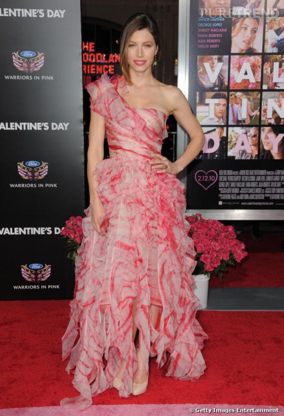 Jessica Biel à la première de Valentine's Day