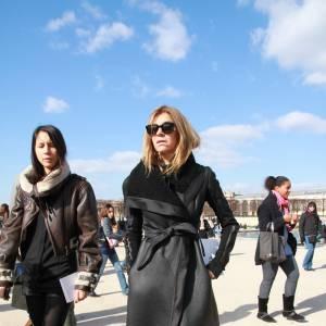 Carine Roitfeld du Vogue Paris : du noir, toujours.