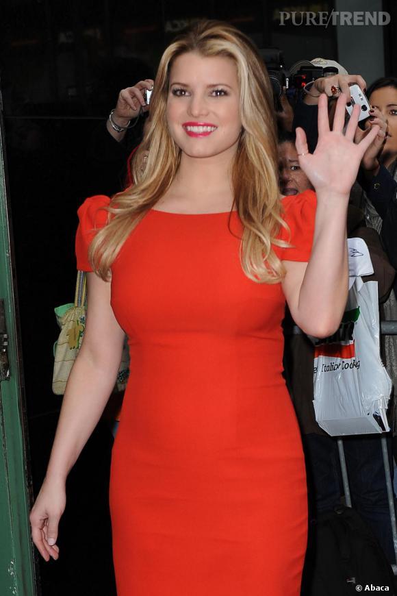 Jessica Simpson au show Good Morning America à New York