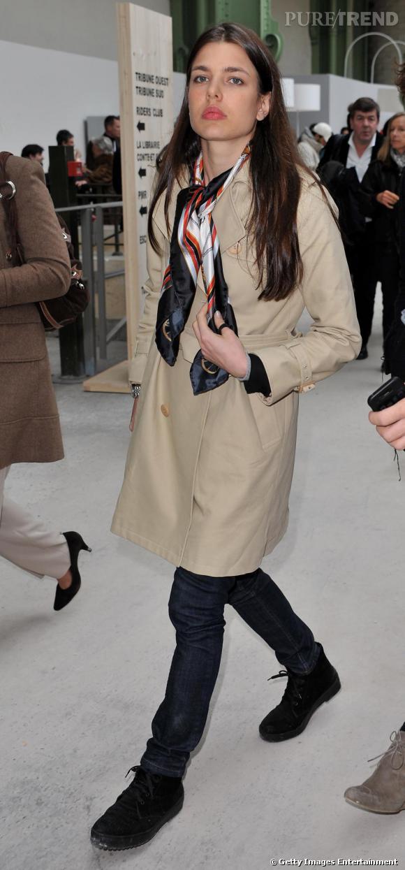 Charlotte Casiraghi au Saut Hermès au Grand Palais à Paris