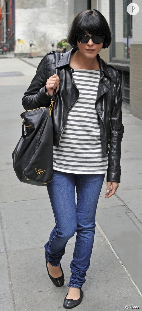 Selma Blair dans le quartier de Soho à New-York