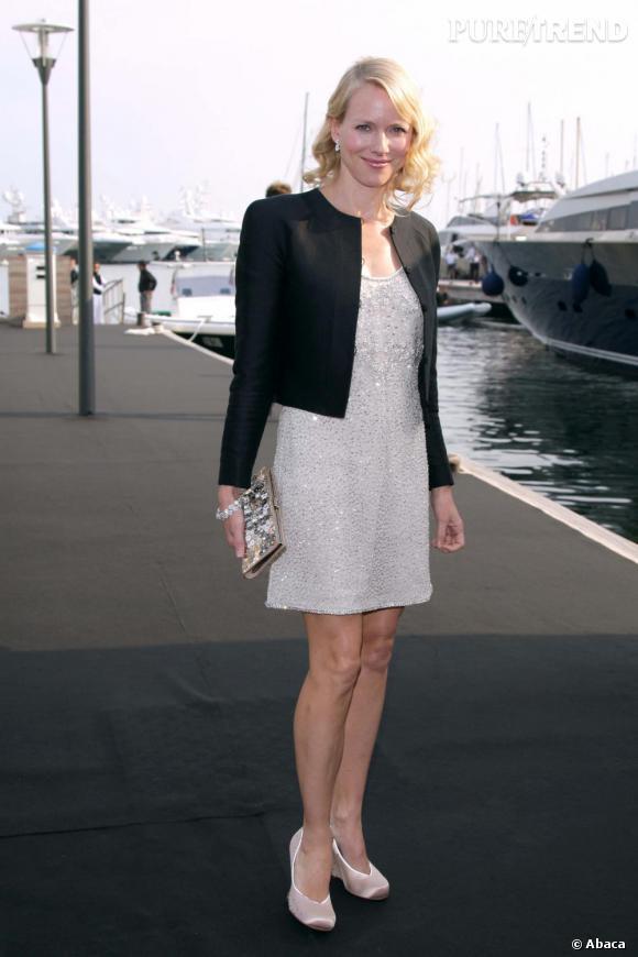 Naomi Watts lors du cocktail Giorgio Armani à Cannes
