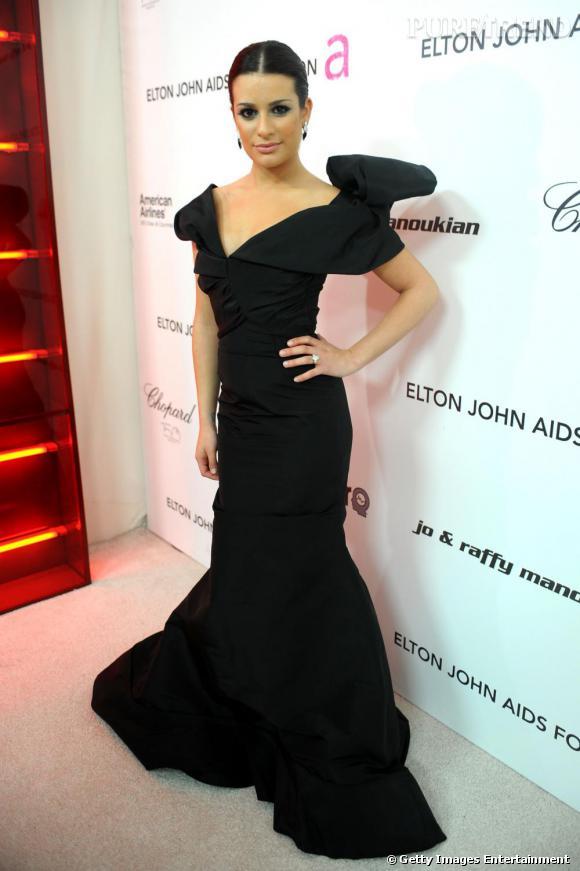 Lea est renversante en robe Oscar de la Renta !