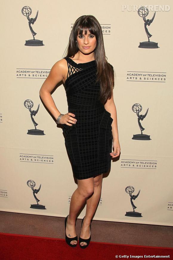 Lea, en vraie star hollywoodienne, a cédé à la mode Hervé Léger !