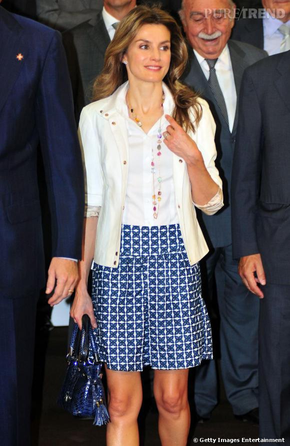 Letizia Ortiz lors d'un meeting avec la fondation Prince Of Girona