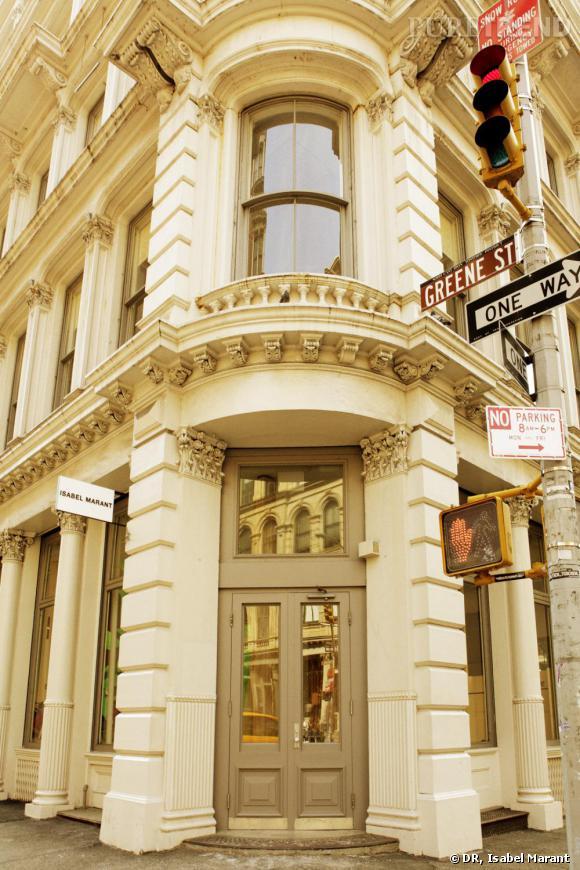 Nouvelle boutique Isabel Marant à l'angle de Greene Street et de Broome Street dans le quartier branché Soho à New York.
