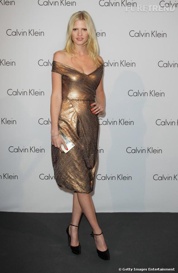 Lara Stone au show The World Of Calvin Klein