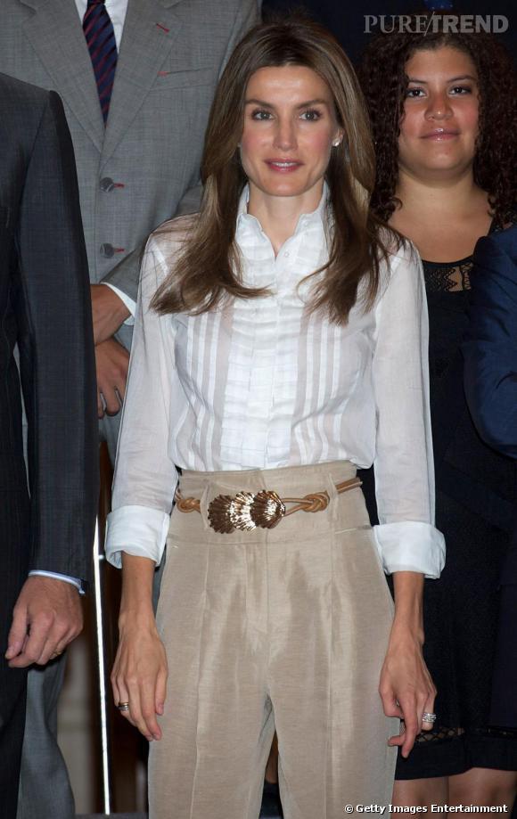 Letizia Ortiz au Palais Zarzuela en Espagne