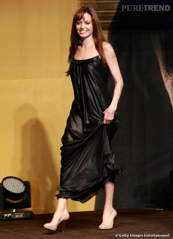 Angelina Jolie à Séoul pour la promotion de son dernier film  Salt .