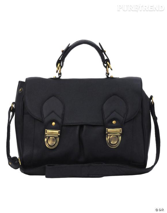 Sac   en cuir   noir, Asos     Prix :  92,65 €    En vente sur     www.asos.com