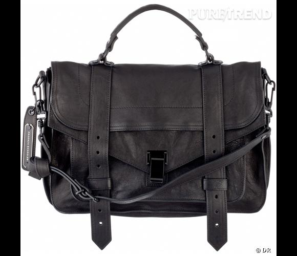 Sac PS1 en cuir noir, Proenza Schouler       Prix :  1 250 €      En vente sur   www.shopzoeonline.com