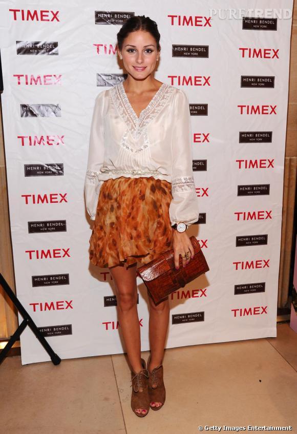 Olivia Palermo à la soirée de lancement de la collection Originals par Timex.