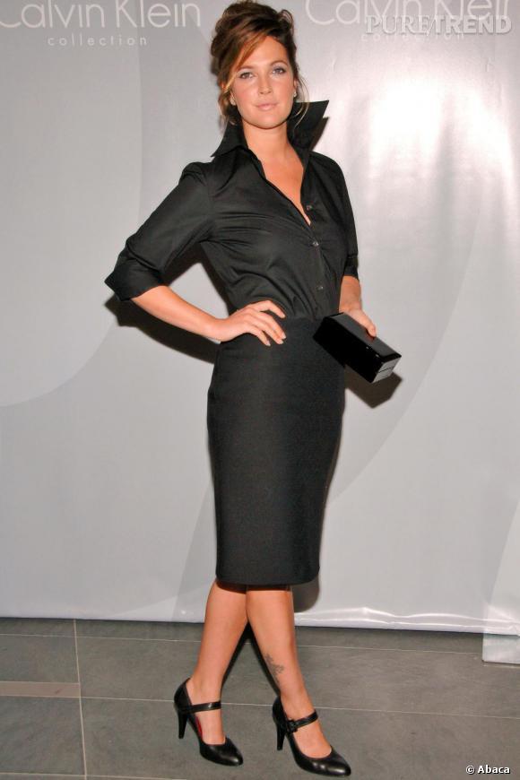 20c7871e907f Drew s  039 essaie au look working girl en une simple chemise noir et