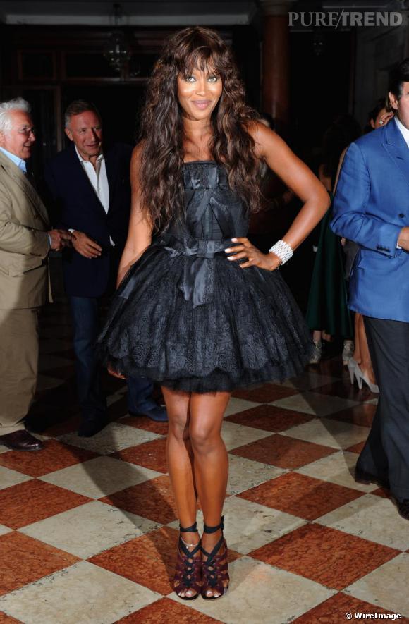 Naomi Campbell à la soirée de l'Uomo Vogue lors du Festival du Film de Venise.