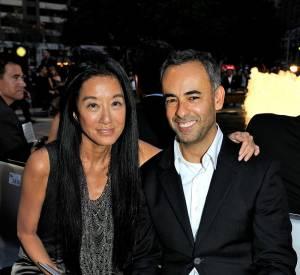 La créatrice Vera Wang et Francisco Costa, directeur artistique de Calvin Klein