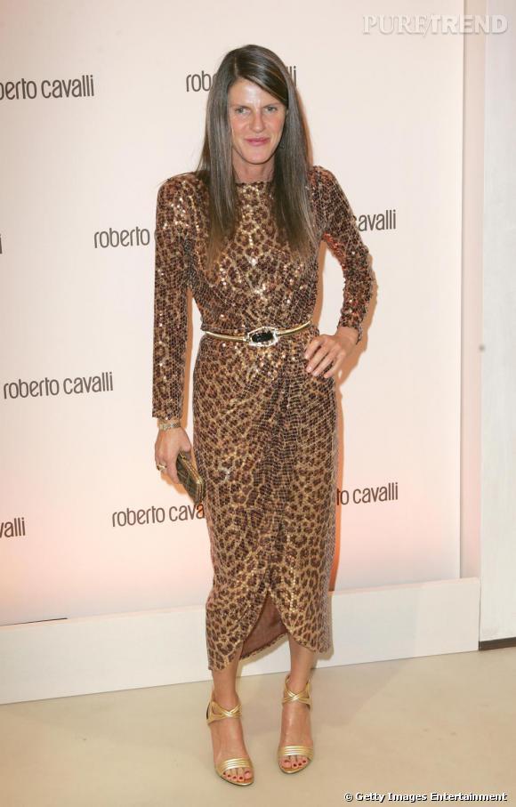 Anna aura, elle aussi, cédé à l'imprimé léopard.