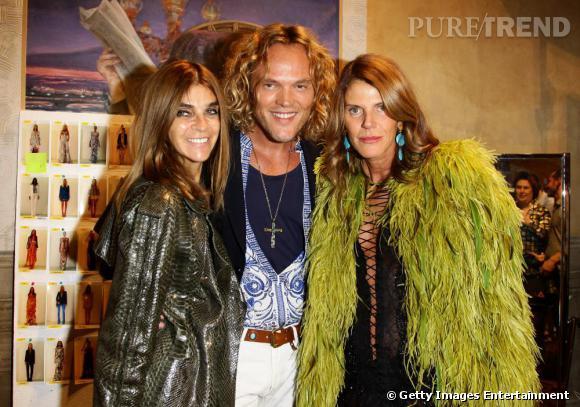 Carine Roitfeld, Peter Dundas et Anna Dello Russo au défilé Emilio Pucci.