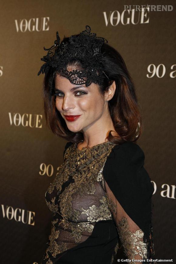 Julia Restoin-Roitfeld, la fille de la rédactrice en chef du Vogue français.