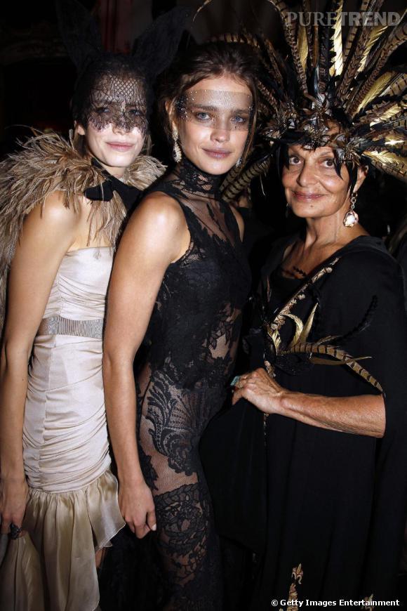 La belle Natalia Vodianova au coté de Diane Von Furstenberg.