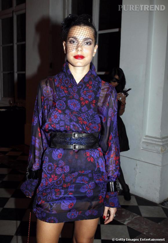 Charlotte Casiraghi, princière dans une robe de la collection Croisière Paris Shanghai de Chanel.