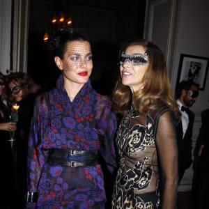 Charlotte Casiraghi et la rédactrice en chef du Vogue français Carine Roitfeld.