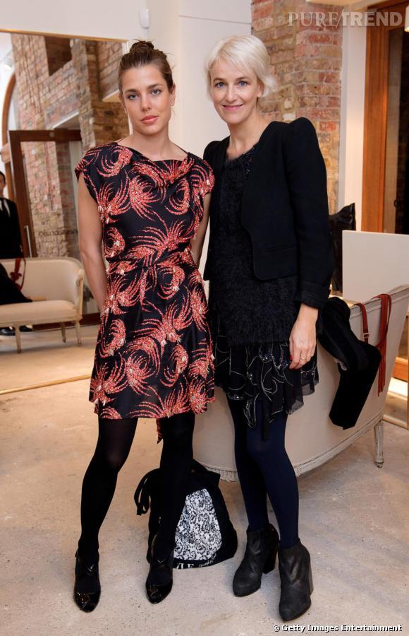 Charlotte Casiraghi aux côtés de Vanessa Bruno.
