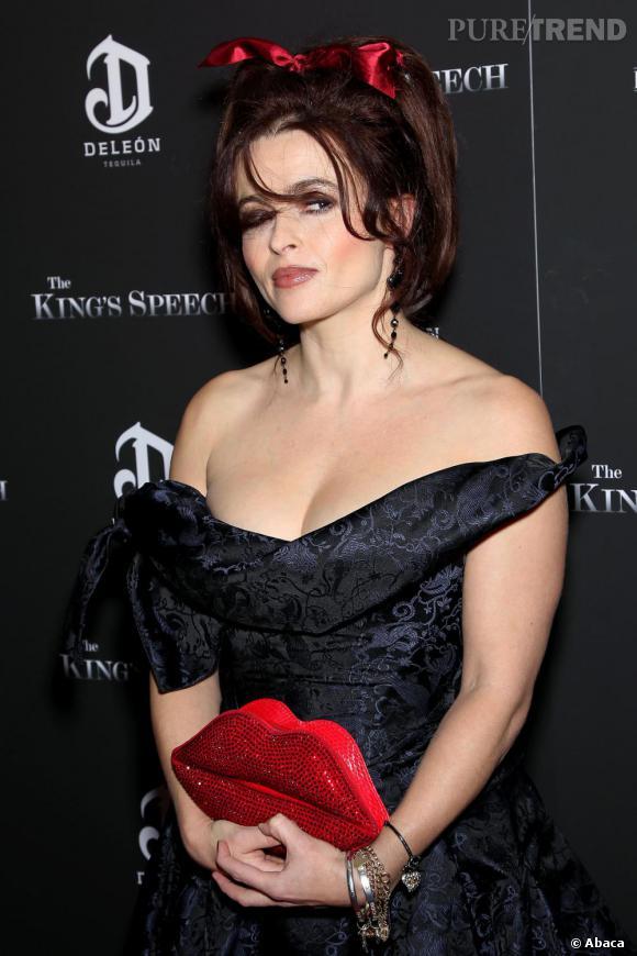 """Helena Bonham Carter à la première de """"The King's Speech"""" à New York."""