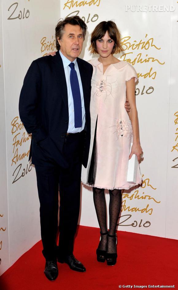 Brian Ferry et Alexa Chung.