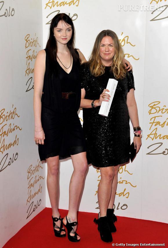 Lily Cole et Emma Hill pour Mulberry.