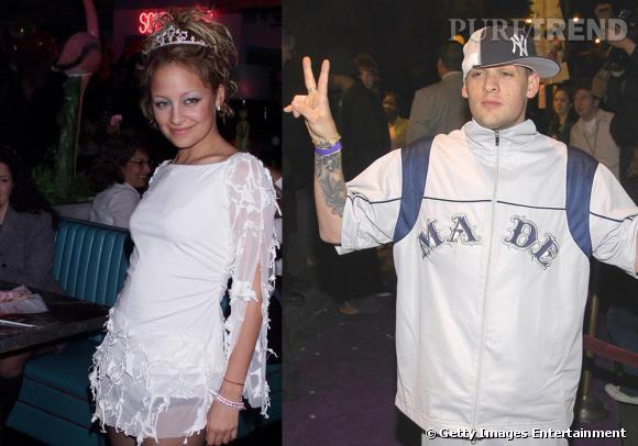 En 2002, le couple n'est pas vraiment glamour et aurait plutôt l'air prêt pour la kermesse du village.