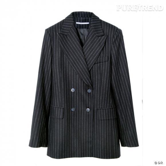 Veste Les 3 Suisses       Un blazer rayé oversize, comme celui du chef du service compta, mais bien plus sexy sur elle...    Prix : 129.90€