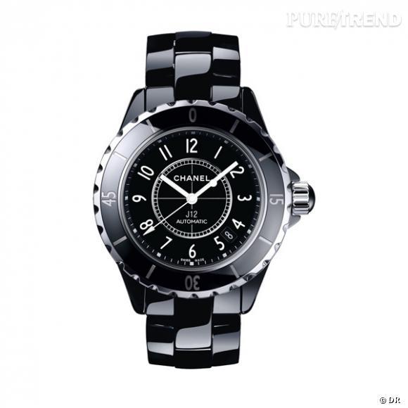 Montre J12, Chanel Horlogerie       Elle est à l'heure, bien sûr, mais à l'heure Chanel.    Prix sur demande.