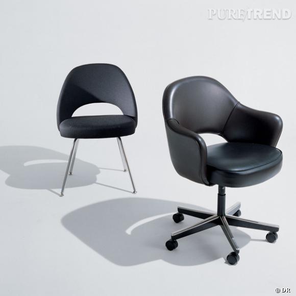 """Executive Chair, Eero Saarinen       Les mêmes chaises que Don Drapper, puisque """"Mad Men"""" est sa nouvelle religion.    Prix sur demande.     Edité chez Knoll."""