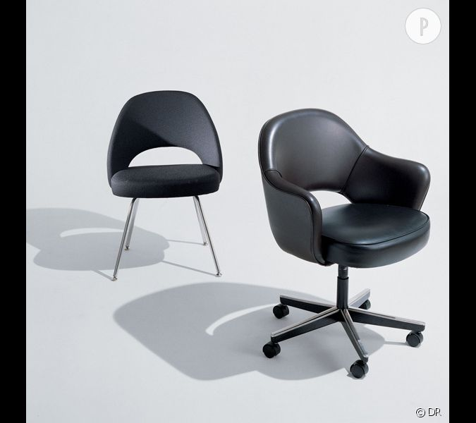 executive chair eero saarinen les m mes chaises que don. Black Bedroom Furniture Sets. Home Design Ideas