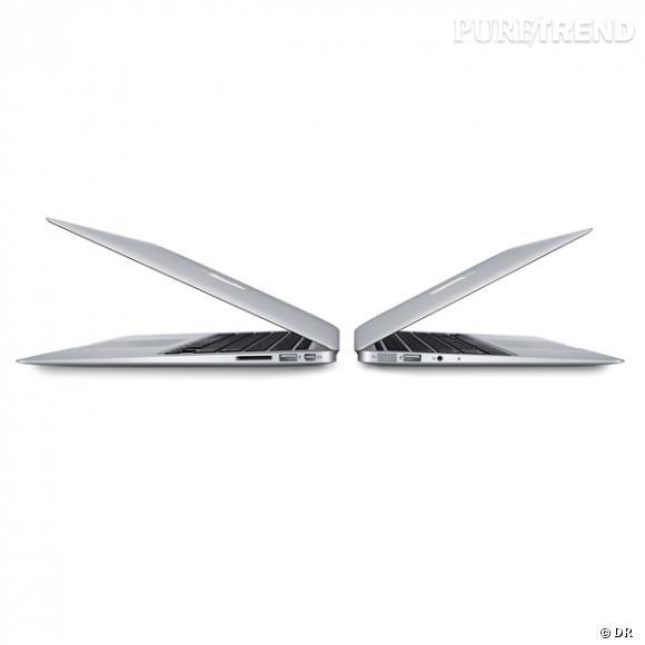 Nouveau Mac Book Air, Apple       Le petit dernier de la famille Apple, plus fin, plus performant, plus pratique, en bref, sa nouvelle obsession.    Prix : à partir de 999€