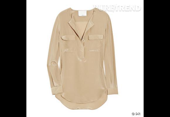 Blouse 3.1 Phillip Lim       Son doudou, hiver comme été, une blouse en soie fluide.    Prix : 427€     En vente sur    www.net-a-porter.com