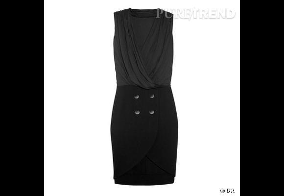 Robe Alexander Wang       Drappée, asymétrique, effet bi-matière, ou comment une simple robe peut remplacer son tailleur jupe.    Prix : 560€     En vente sur    www.net-a-porter.com