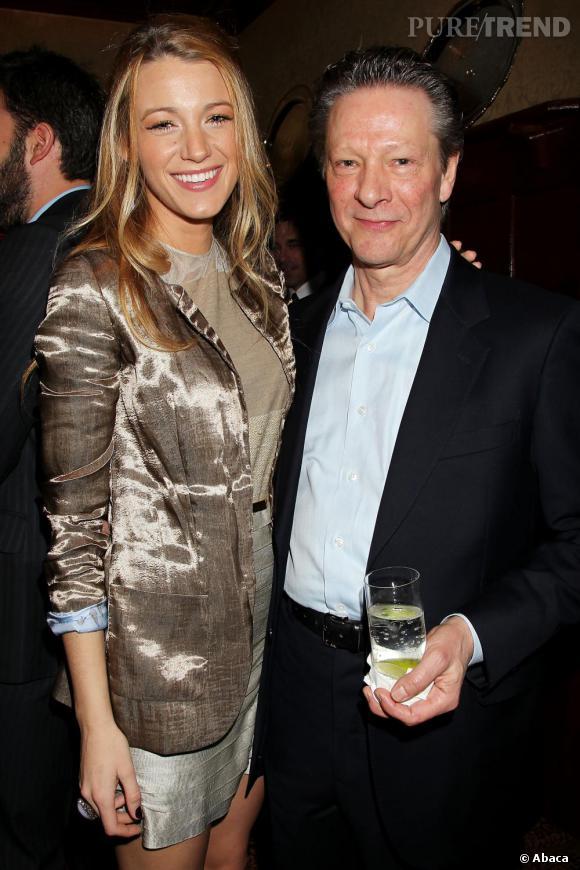 """Blake Lively et Chris Cooper au dîner organisé pour les acteurs de """"The Town"""" à New York."""