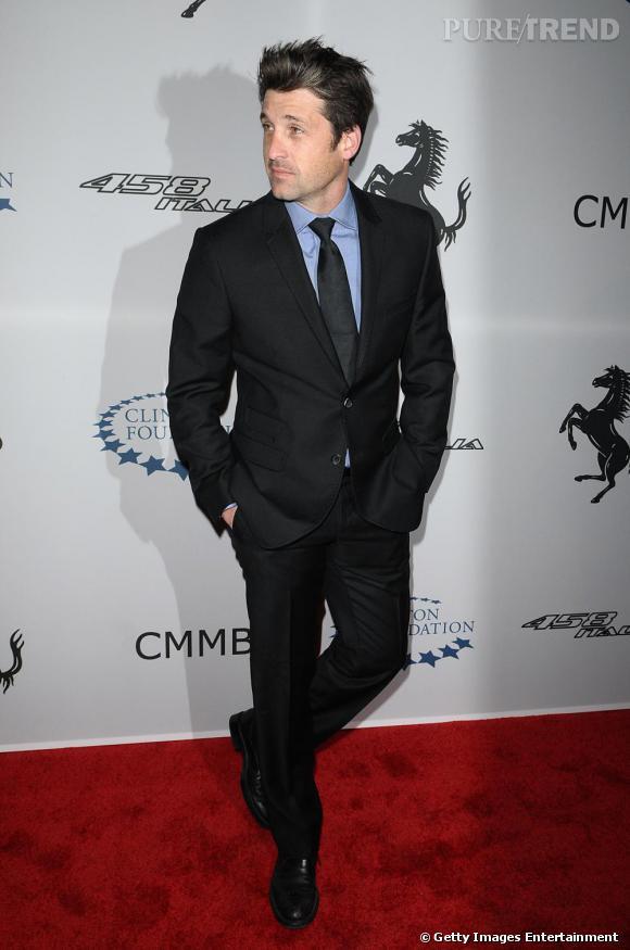 Patrick Dempsey : l'acteur sait comment porter le costard avec distinction. Ici, l'ensemble associé à une chemise bleue est parfaite.