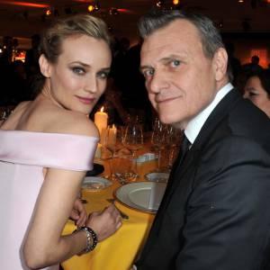 Diane Kruger et Jean-Charles de Castelbajac au Dîner de la mode, à Paris.