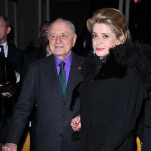 Pierre Bergé et Catherine Deneuve.