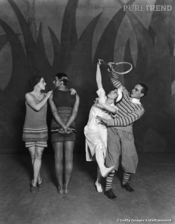 Coco Chanel signe les costumes du ballet Le Train Bleu, en 1924.
